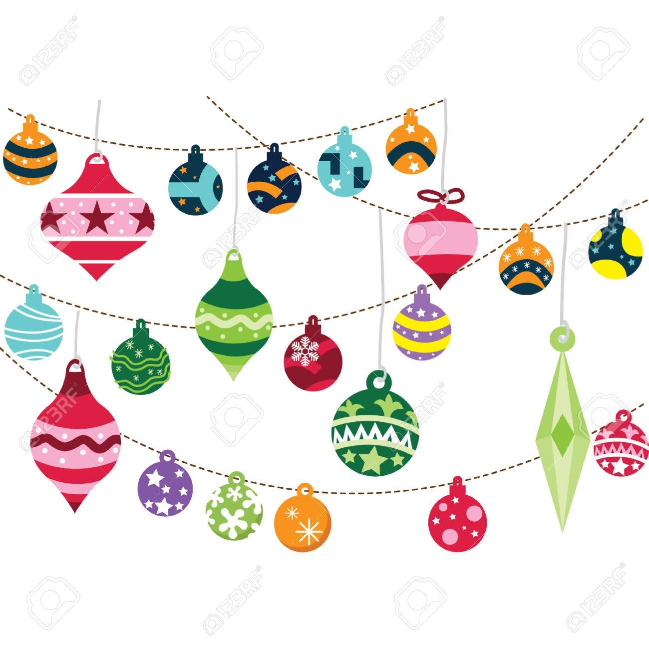 Christmas Ornament Vector.Christmas Ornaments