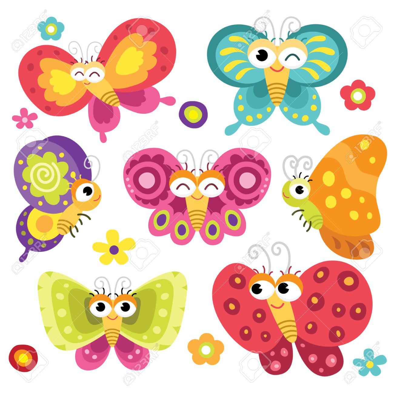 butterfly cartoon stock photos royalty free butterfly cartoon