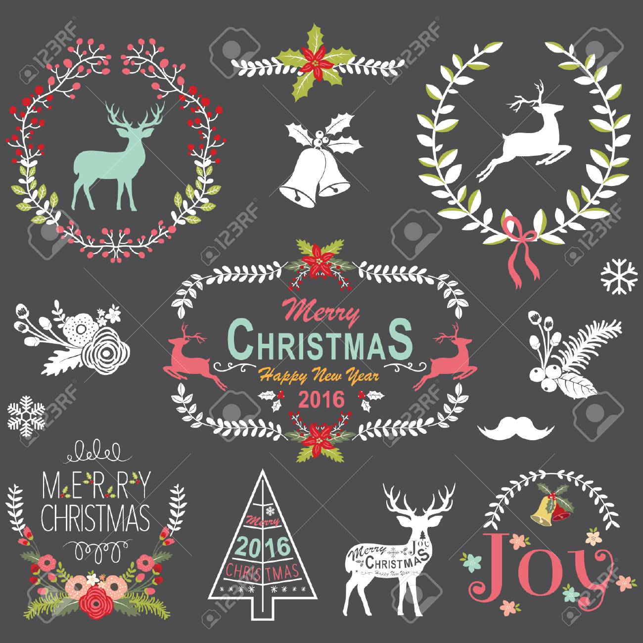 Christmas Chalkboard.Retro Christmas Chalkboard