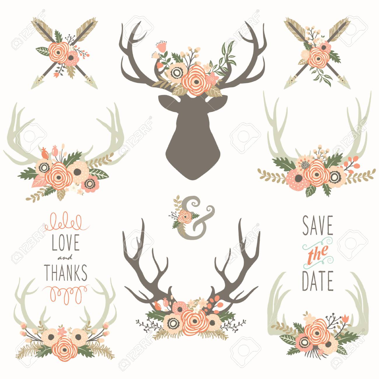 Flower Antlers Collections - 72368952