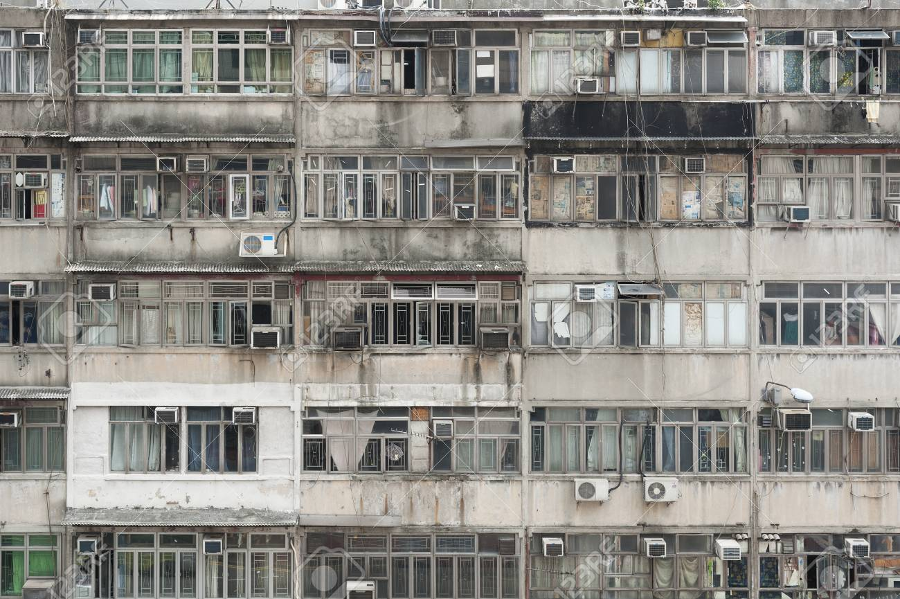 Exterior Of Old Residential Building In Hong Kong Stock Photo Picture And Royalty Free Image Image 81489143