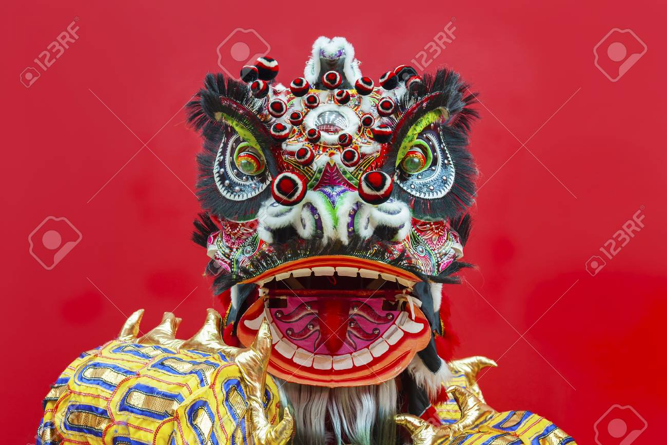 Lion Dance Costume used during Chinese New Year - 90819118