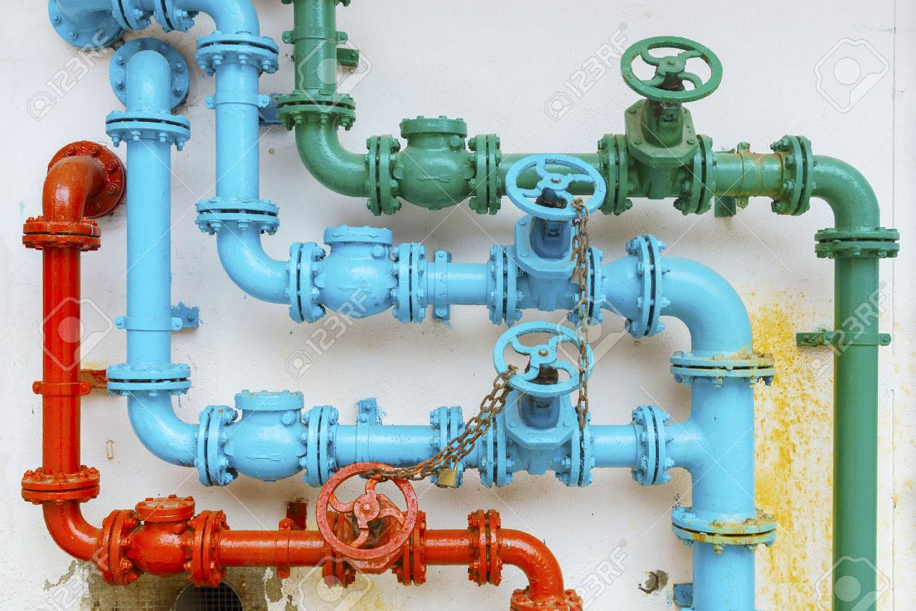 colorful pipe for water piping system - 115561476
