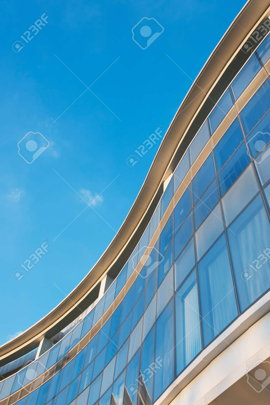 Exterior of modern architecture. Building abstract background - 171895405
