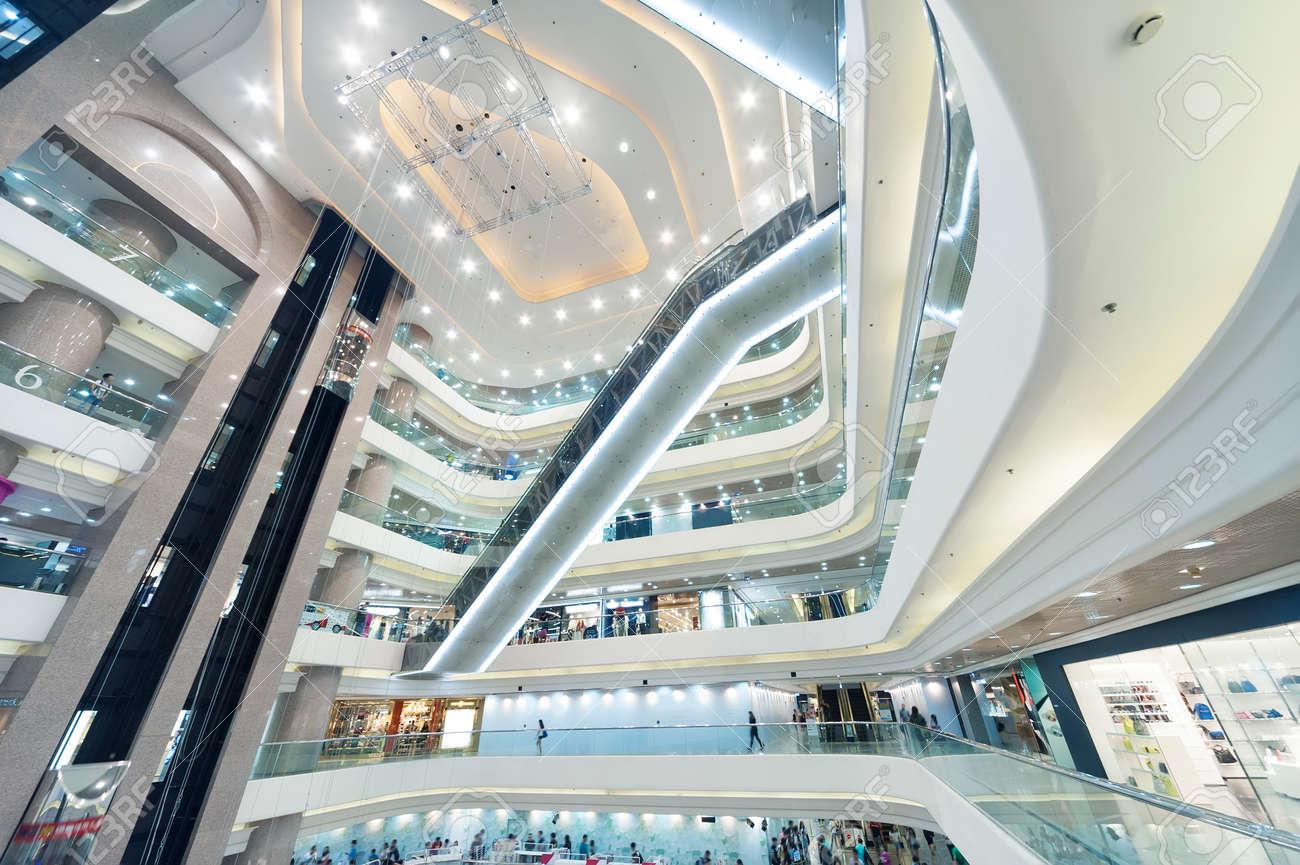 Interior veiw of modern shopping mall in Hong Kong - 171896208
