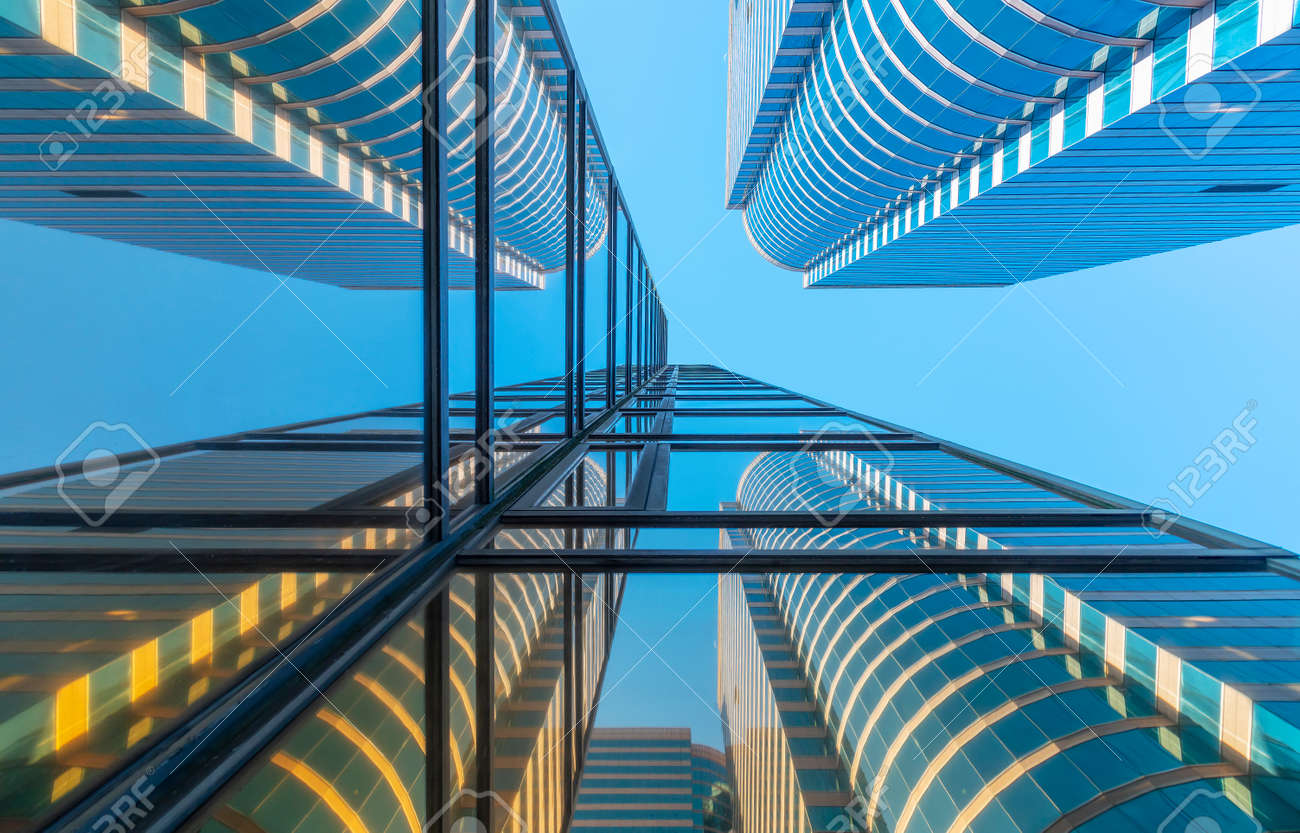 Exterior of modern architecture. Building abstract background - 171850476