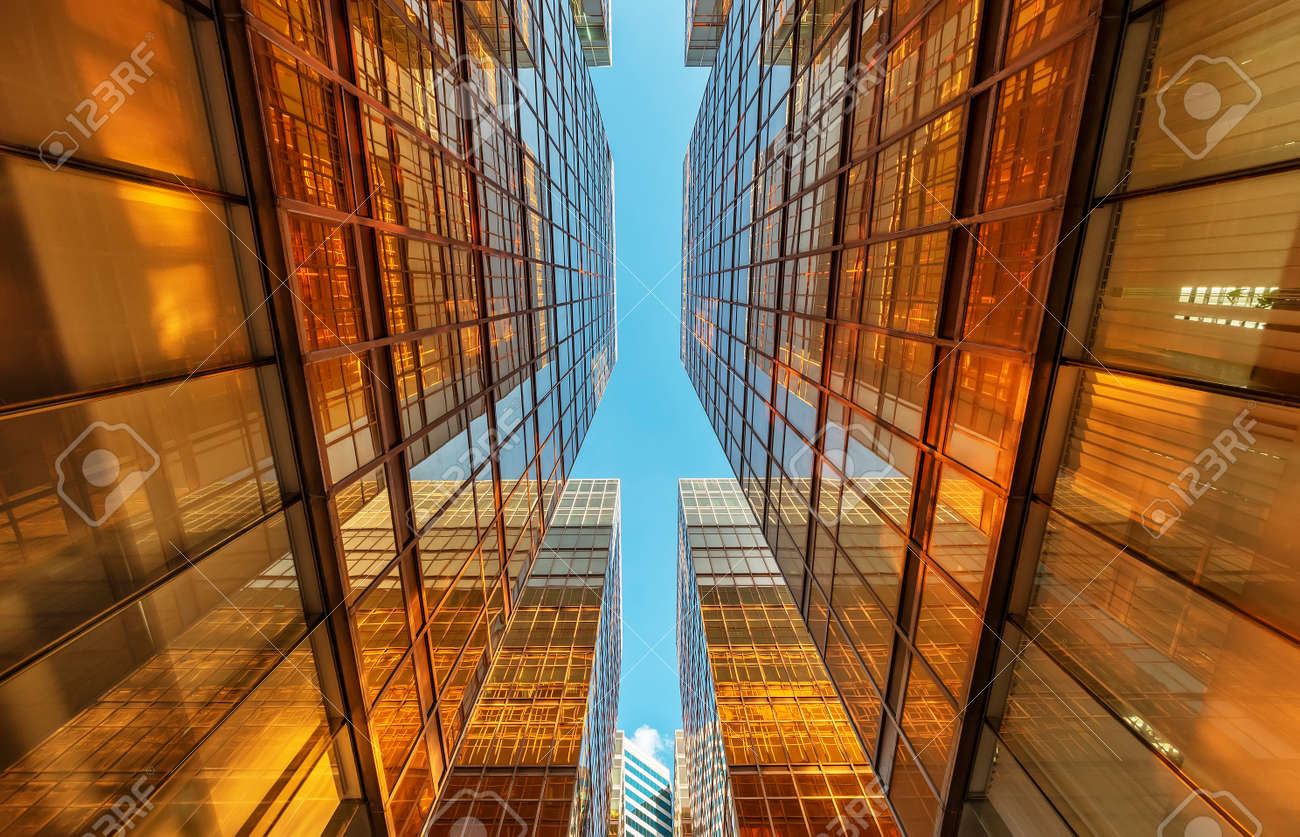 Exterior of modern architecture. Building abstract background - 171849864