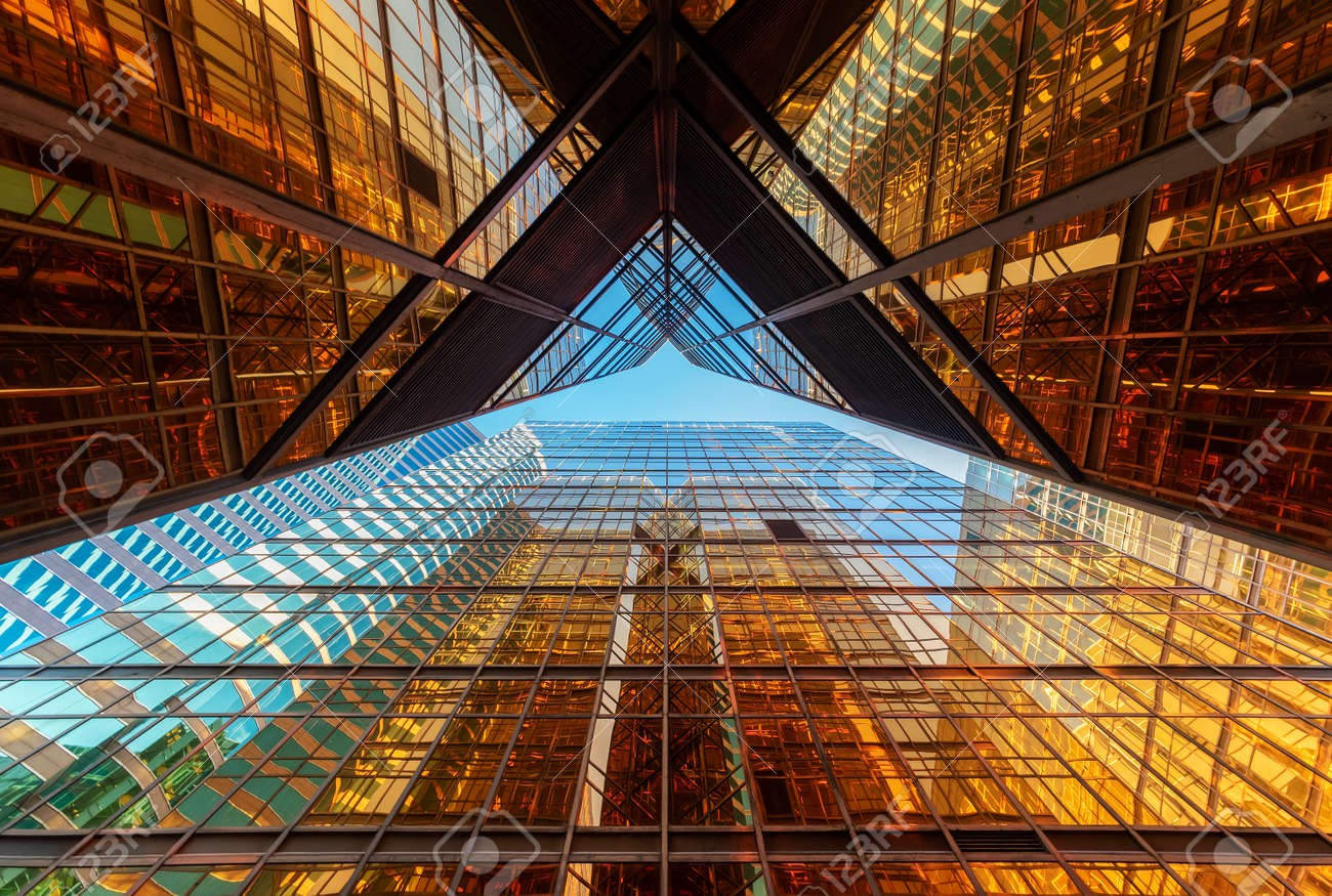 Exterior of modern architecture. Building abstract background - 171895687
