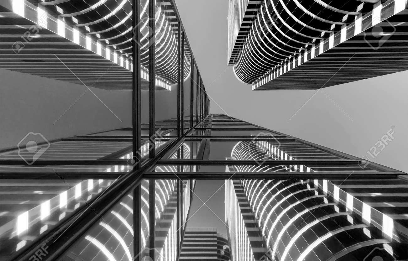 Exterior of modern architecture. Building abstract background - 172194632