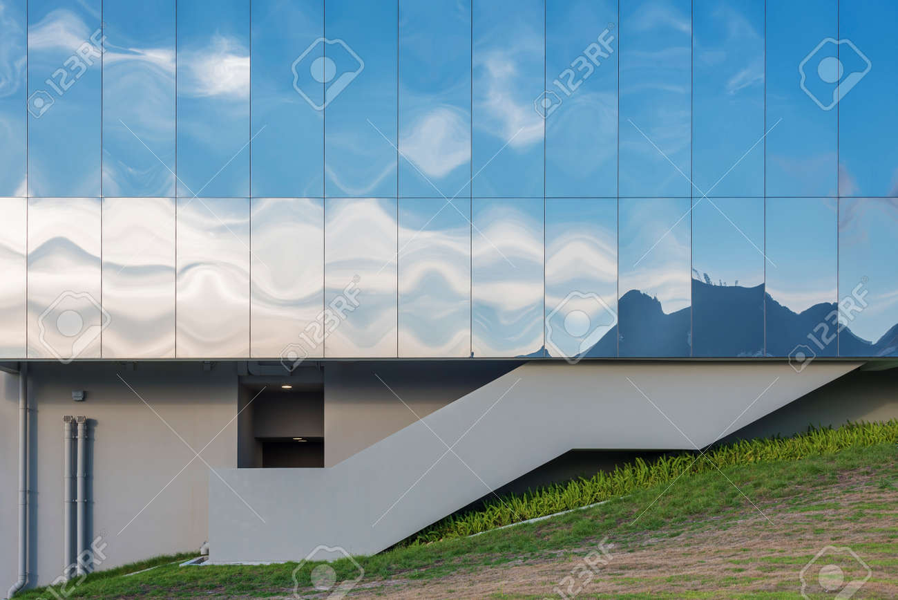 Exterior of modern architecture. Building abstract background - 172194911