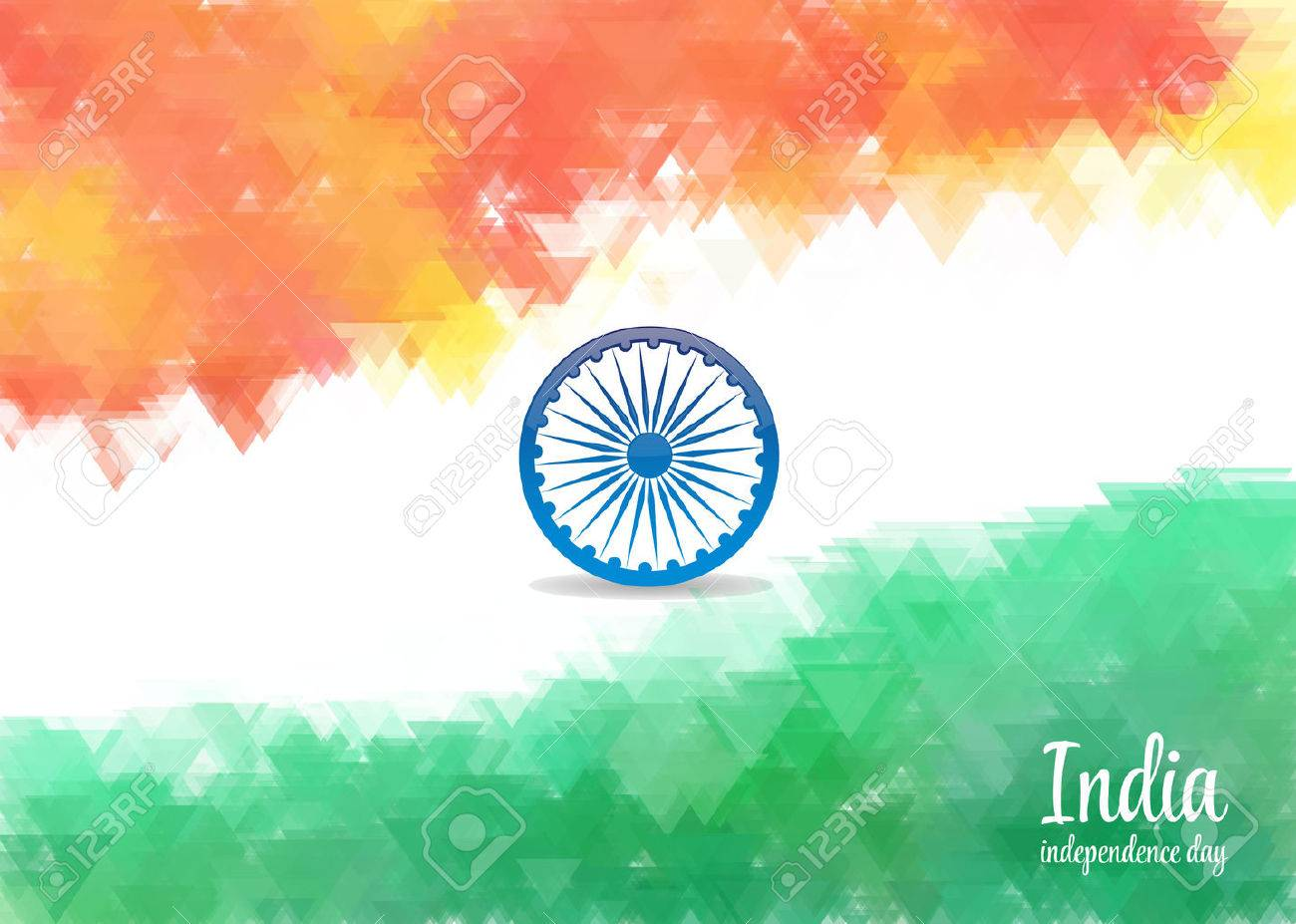 Watercolor Background For Indian Independence Day Background