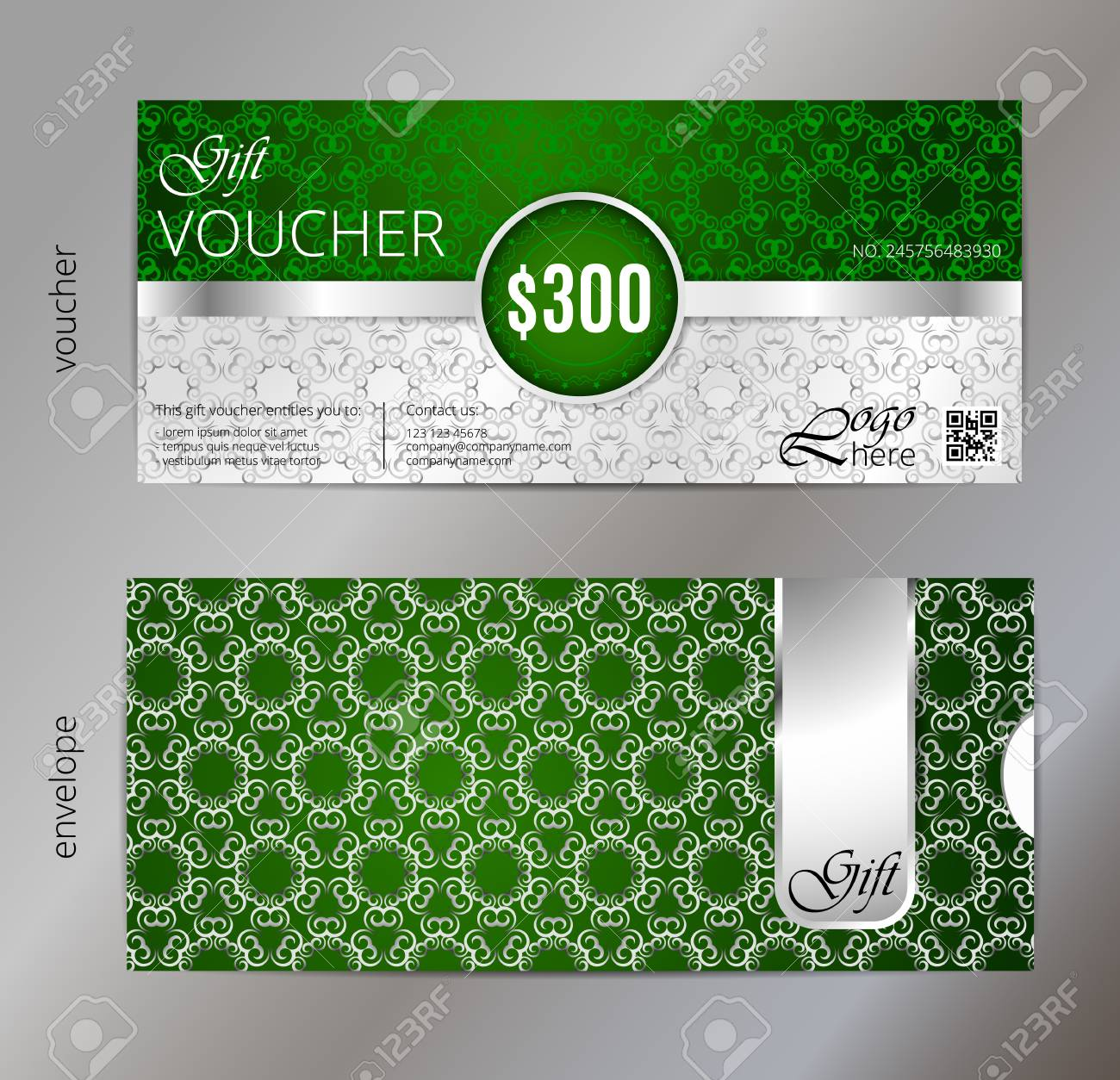 Vector Illustration,Gift Voucher Template With Clean And Modern ...