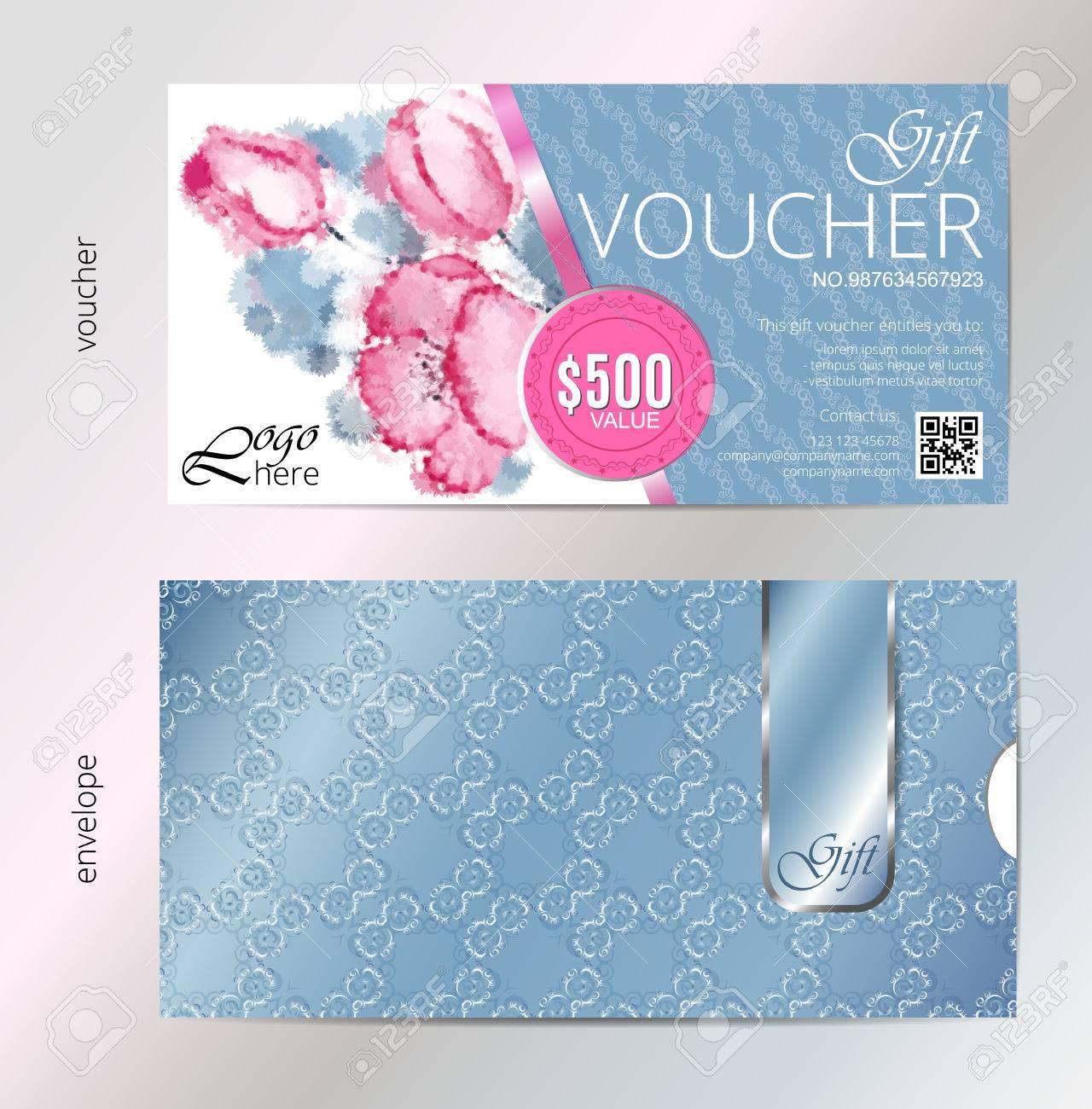 Geschenkgutschein Vektor Schönheit Aquarell Silber Hintergrund Und ...
