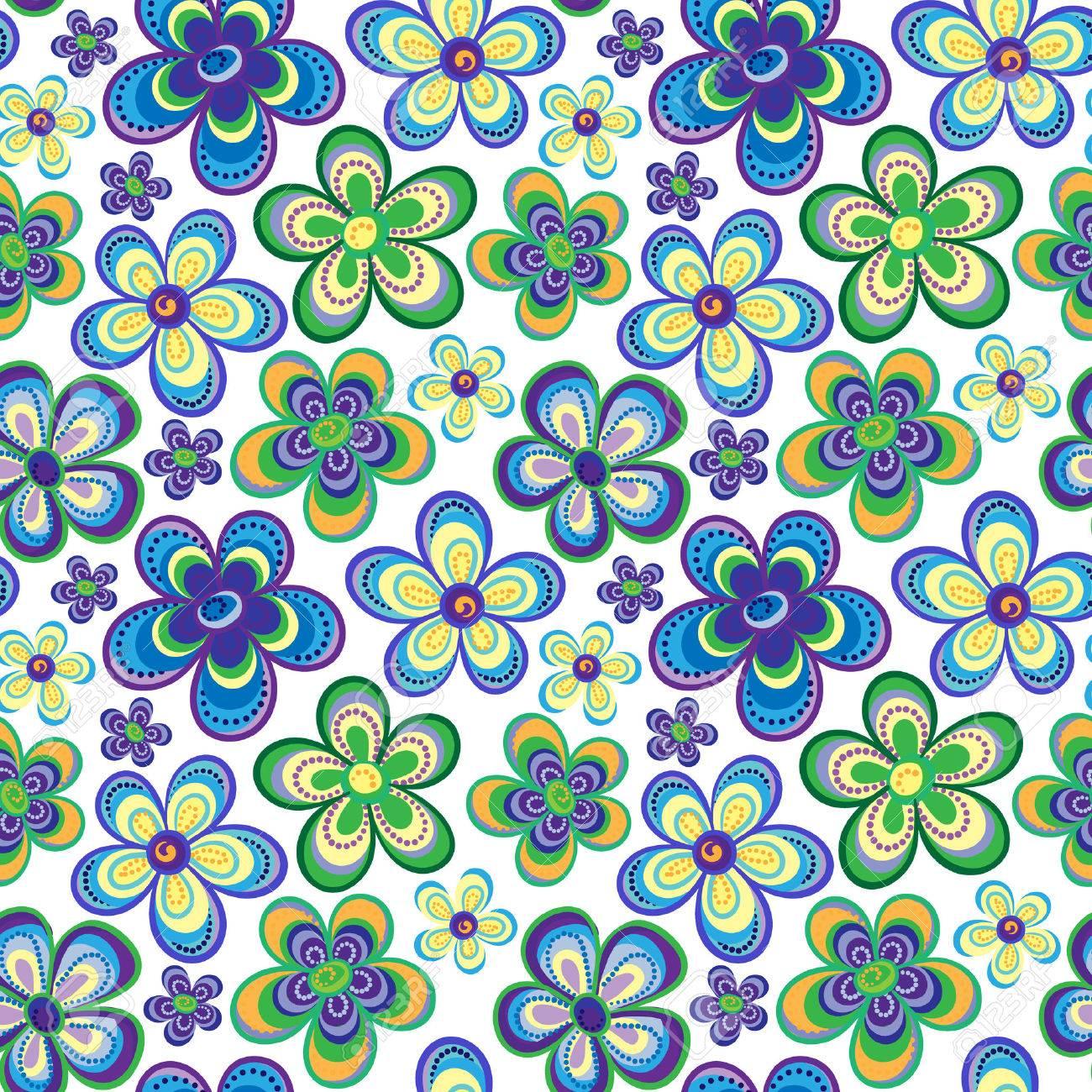 Fleurs Nappe Coloré Vintage-flexion des sans fondu