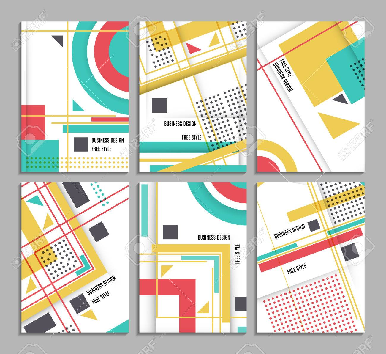 Set of business card abstract geometric design brochure title set of business card abstract geometric design brochure title sheet reative text frame colourmoves