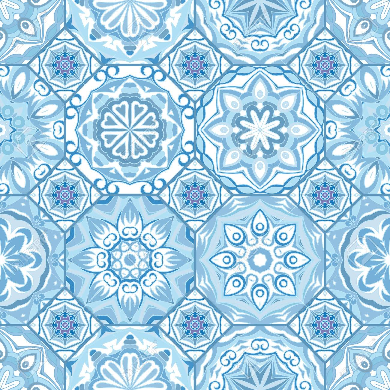 Gorgeous Floral Tile Design. Moroccan Or Mediterranean Octagon ...