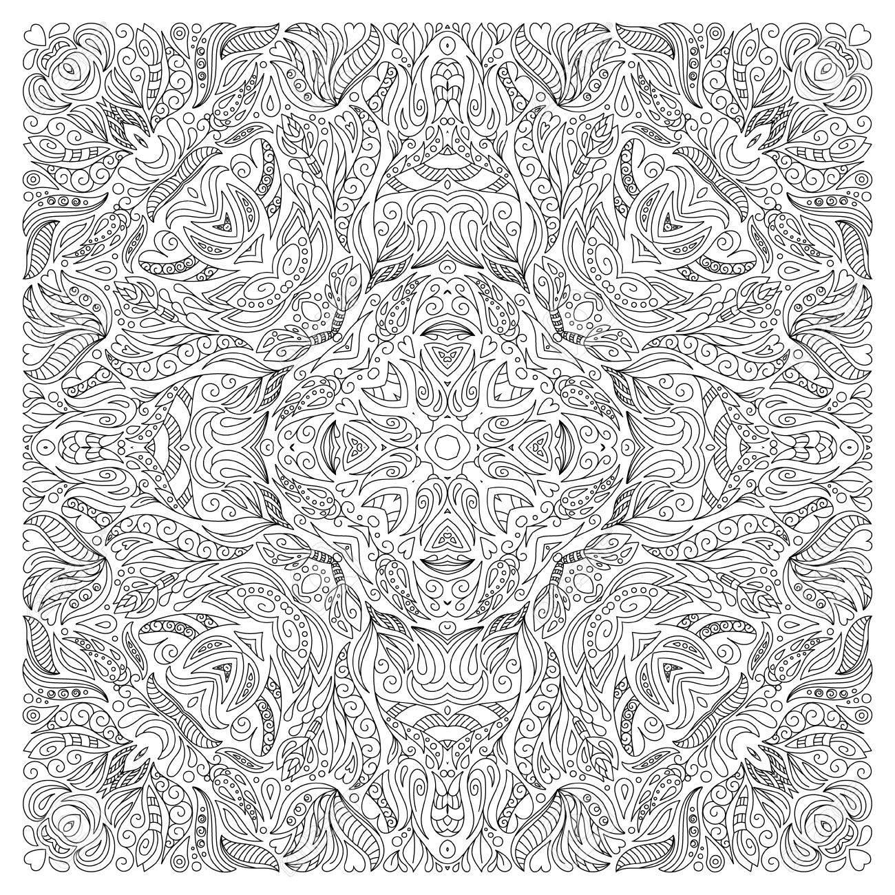 Lujoso Páginas Para Colorear Abstractas Duras Imprimibles Patrón ...