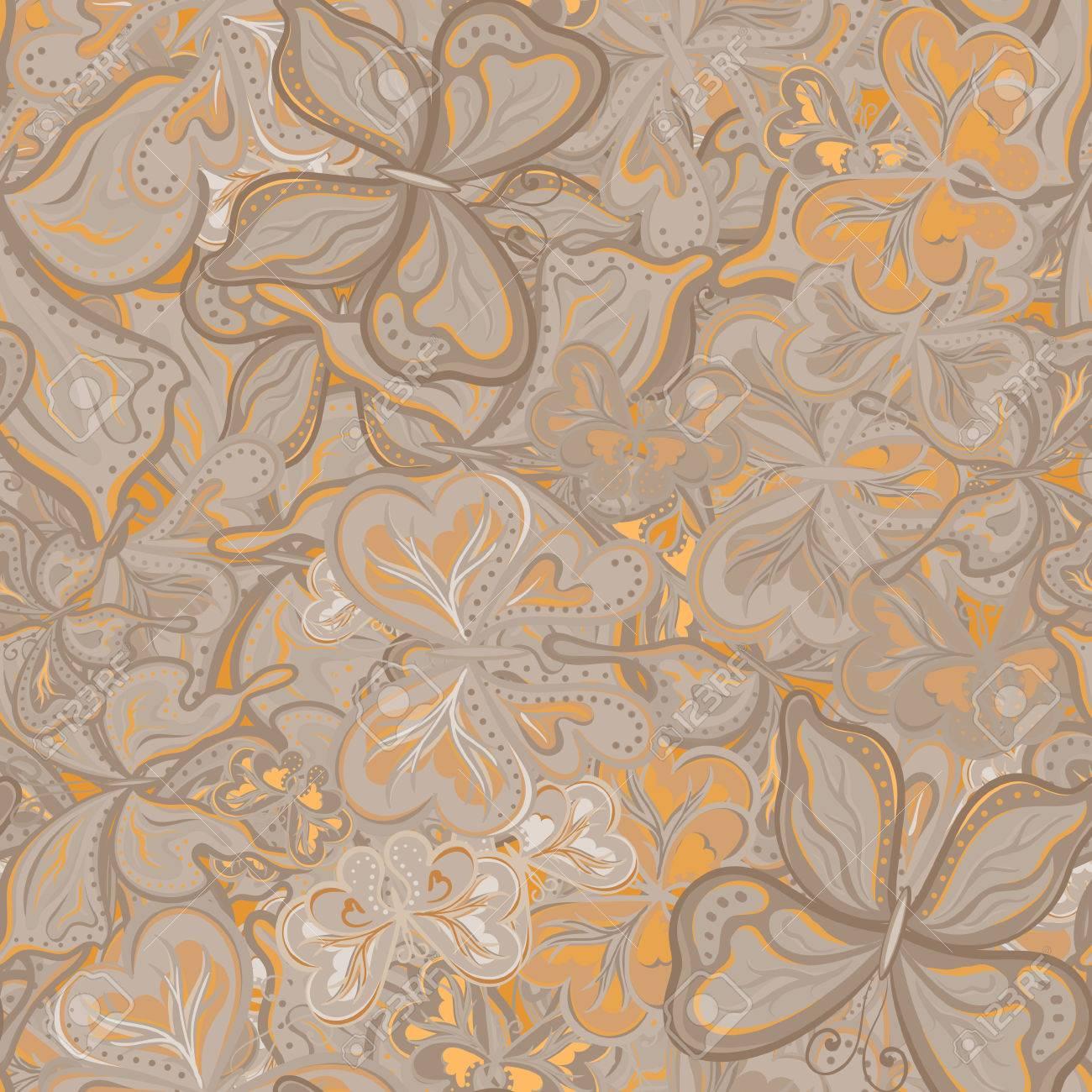 Carta Da Parati Tessuto modello di vettore senza soluzione di continuità con farfalle per tessuto,  tessuto o carta da parati