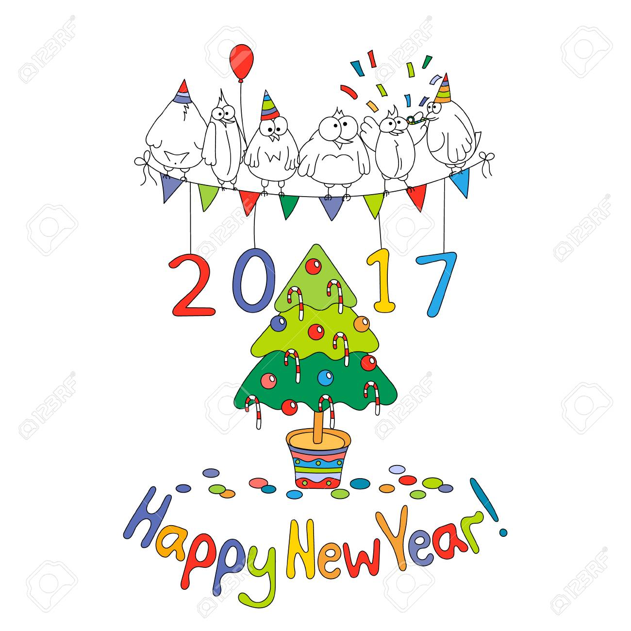 Happy New Year Greeting Card 23