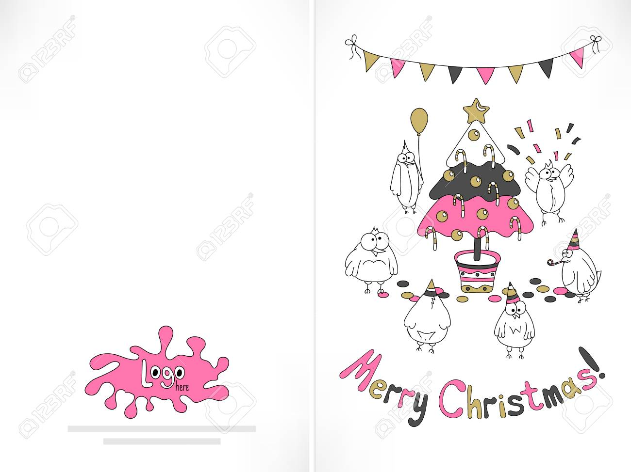graphic about Funny Printable Christmas Cards identify Organized in the direction of print Xmas card. Humorous birds amassed above the..