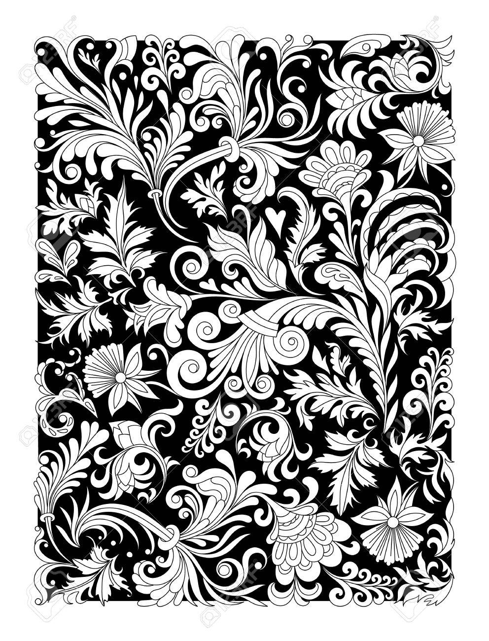 Design Of Spiral Ornamental Floral Notebook Cover Cover For