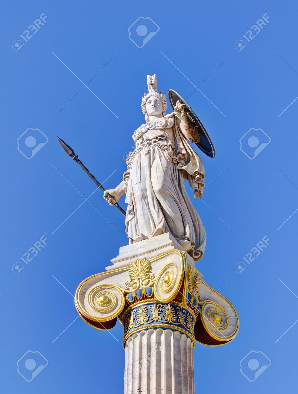 statue of goddess athena athens greece stock photo picture and