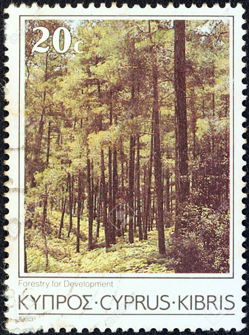 CYPRUS - CIRCA 1985: A stamp printed in Cyprus from the