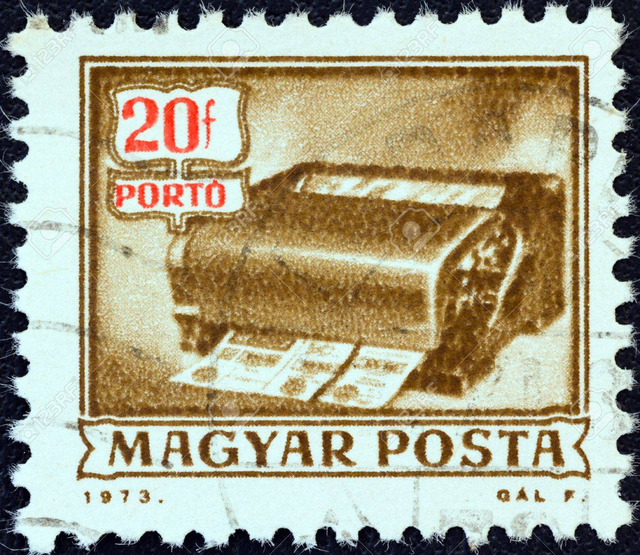 HUNGARY - CIRCA 1973: A stamp printed in Hungary from the