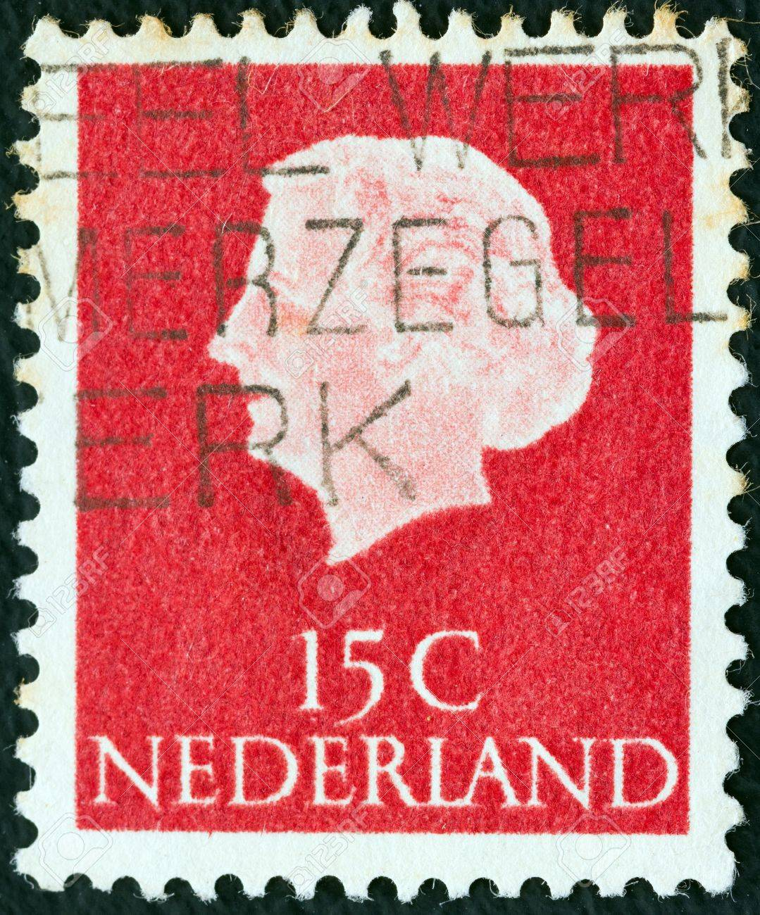 NETHERLANDS - CIRCA 1953: A stamp printed in the Netherlands shows Queen Juliana, circa 1953.  Stock Photo - 16337680