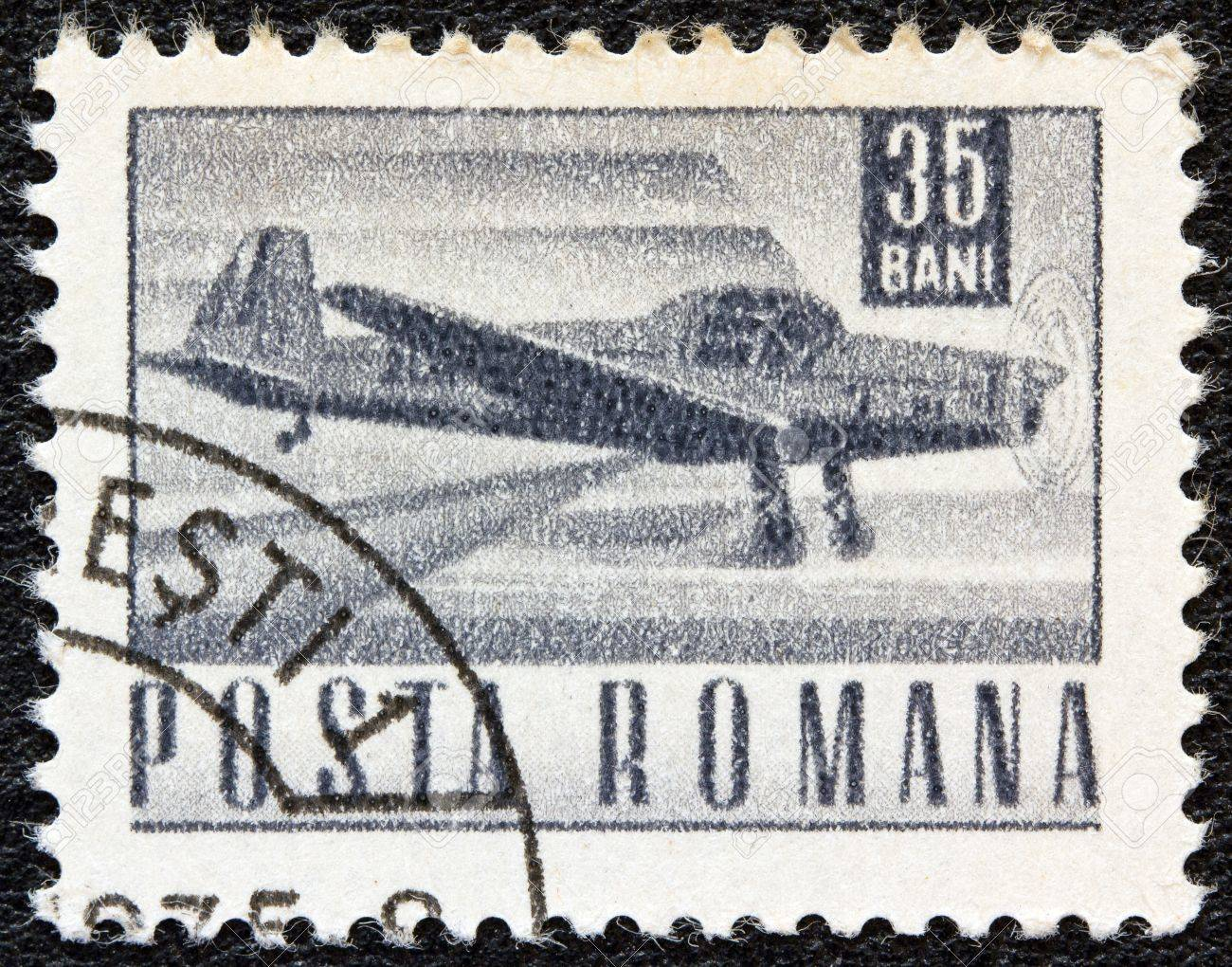 ROMANIA - CIRCA 1967: A stamp printed in Romania shows a Zlin Z-226A akrobat plane, circa 1967.  Stock Photo - 17403344