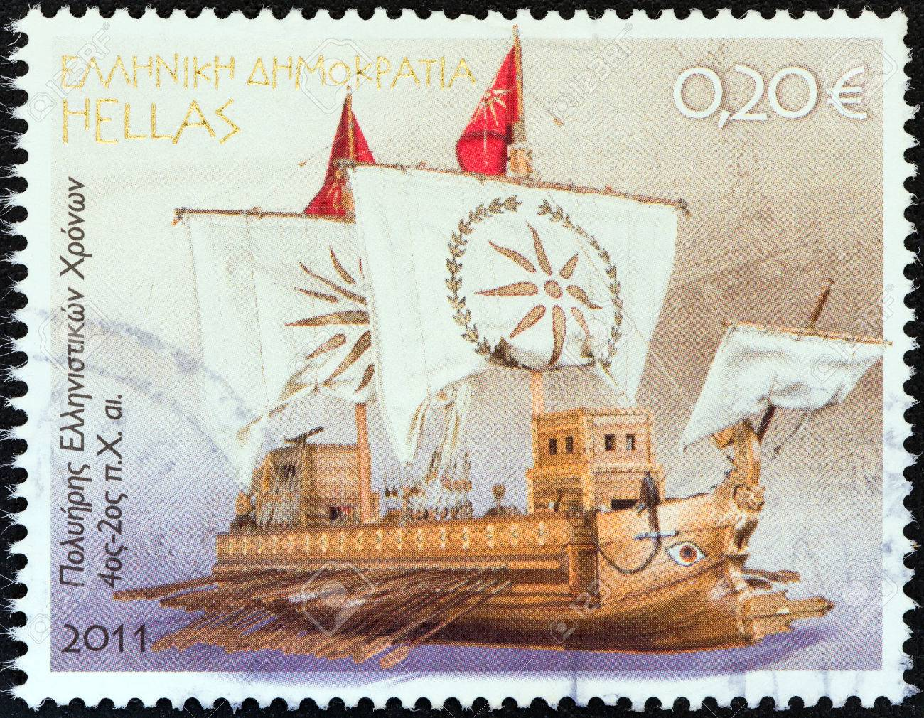 GREECE - CIRCA 2011 A stamp printed in Greece from the Greek