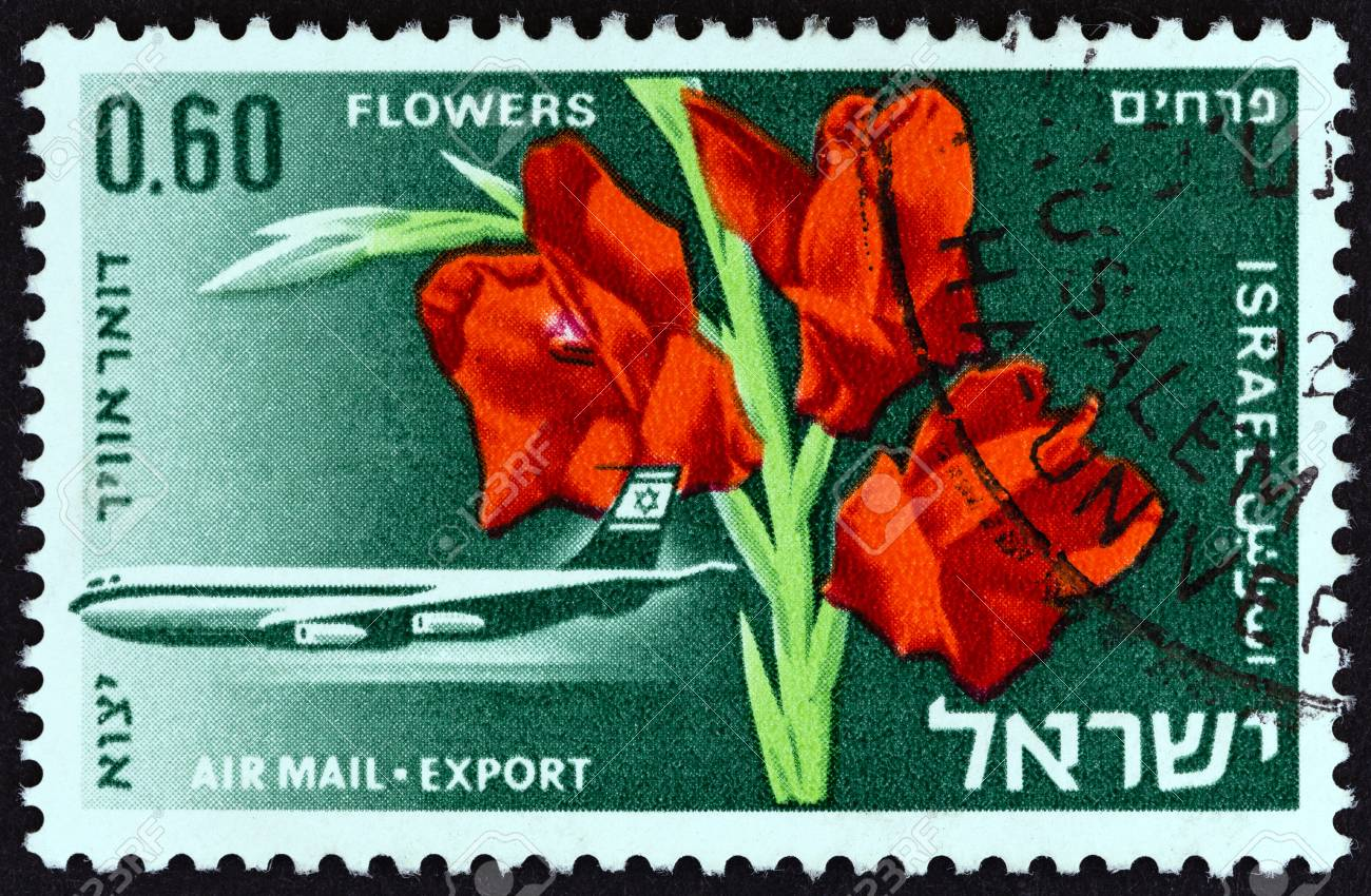 ISRAEL - CIRCA 1968: A stamp printed in Israel from the