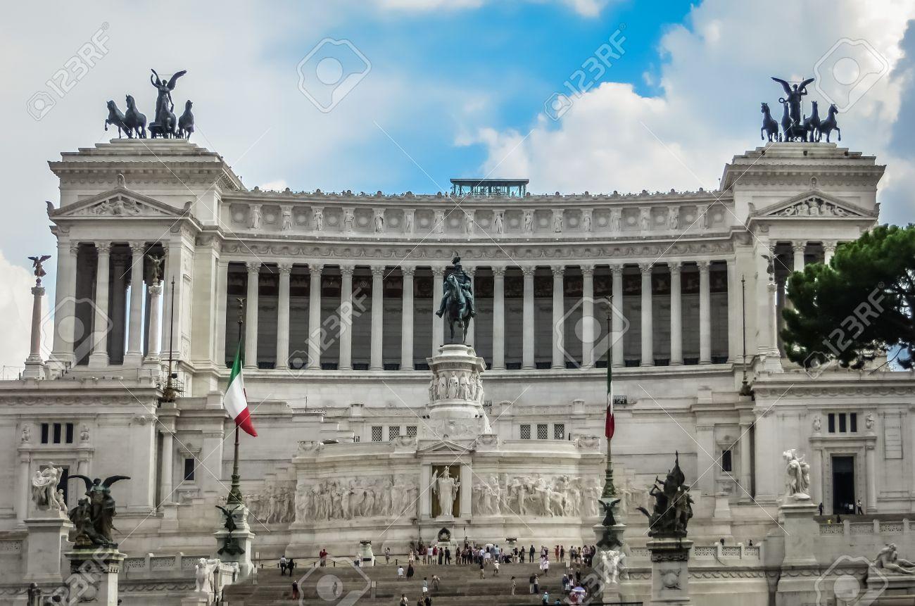 Le Gâteau De Mariage Victor Emmanuel Ii Monument Rome Italie