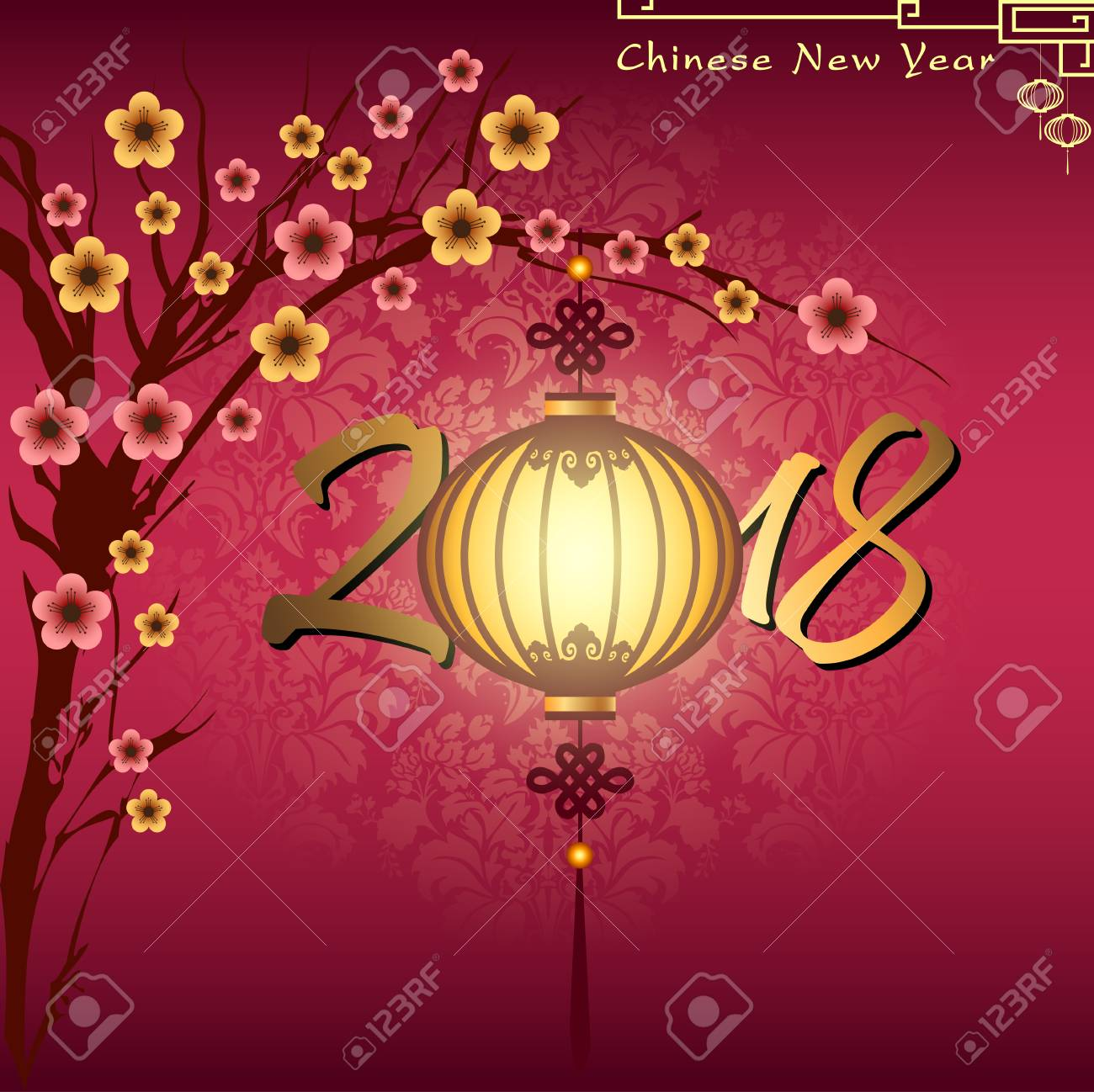 Año Nuevo Chino Abstracto Con La Fraseología China Tradicional. El ...