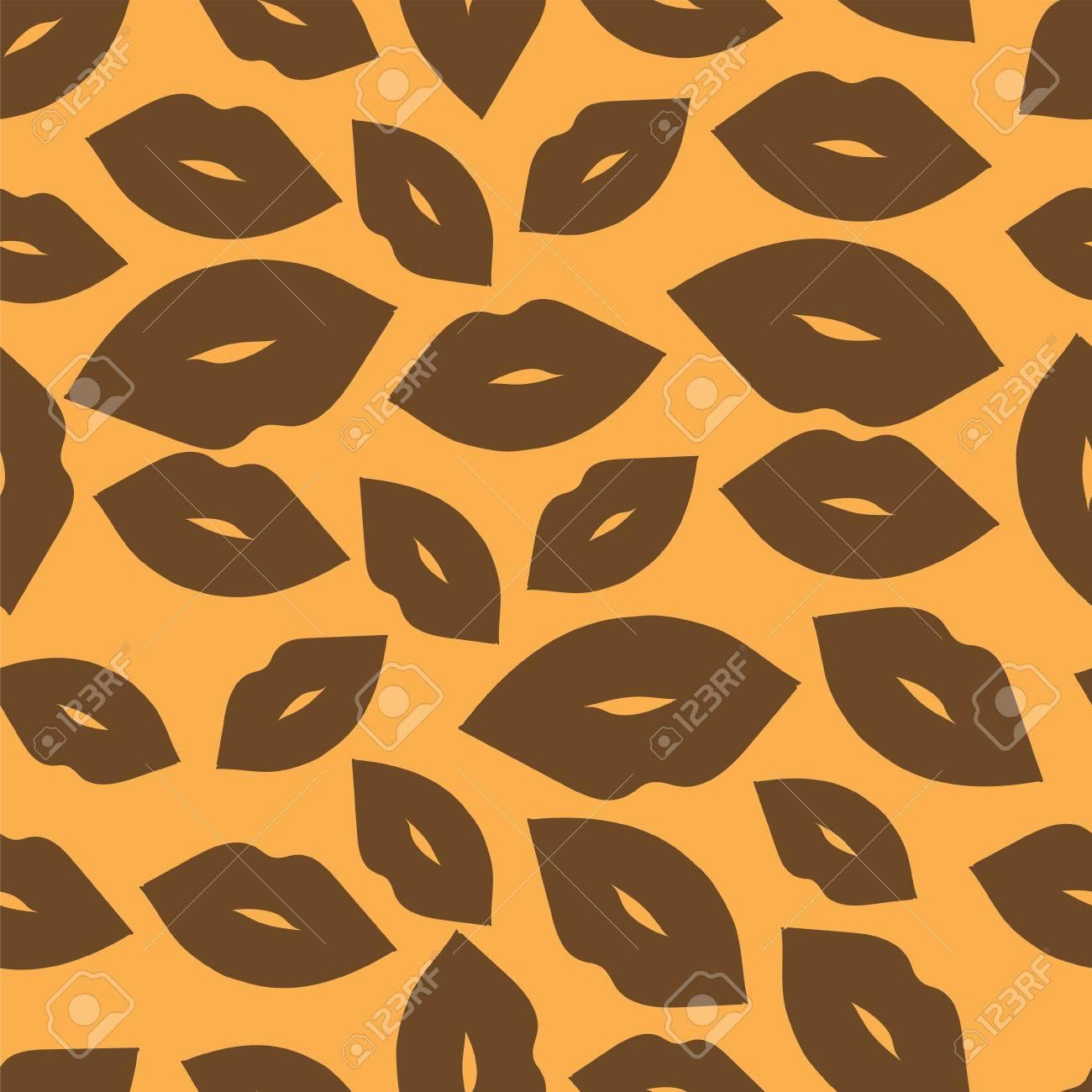 Labios Fondo Lazos De Leopardo Para Colorear Patrón Sin Fisuras Para