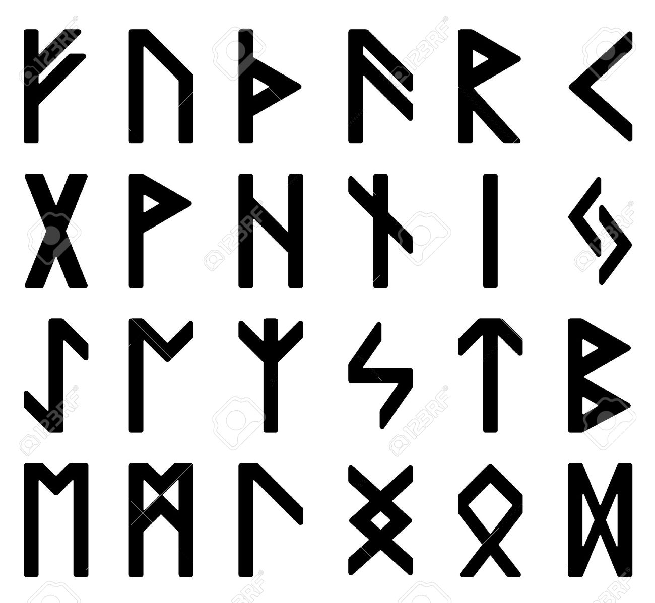 Symbols Magic Runes Witchcraft Signs Stock Photo Picture And