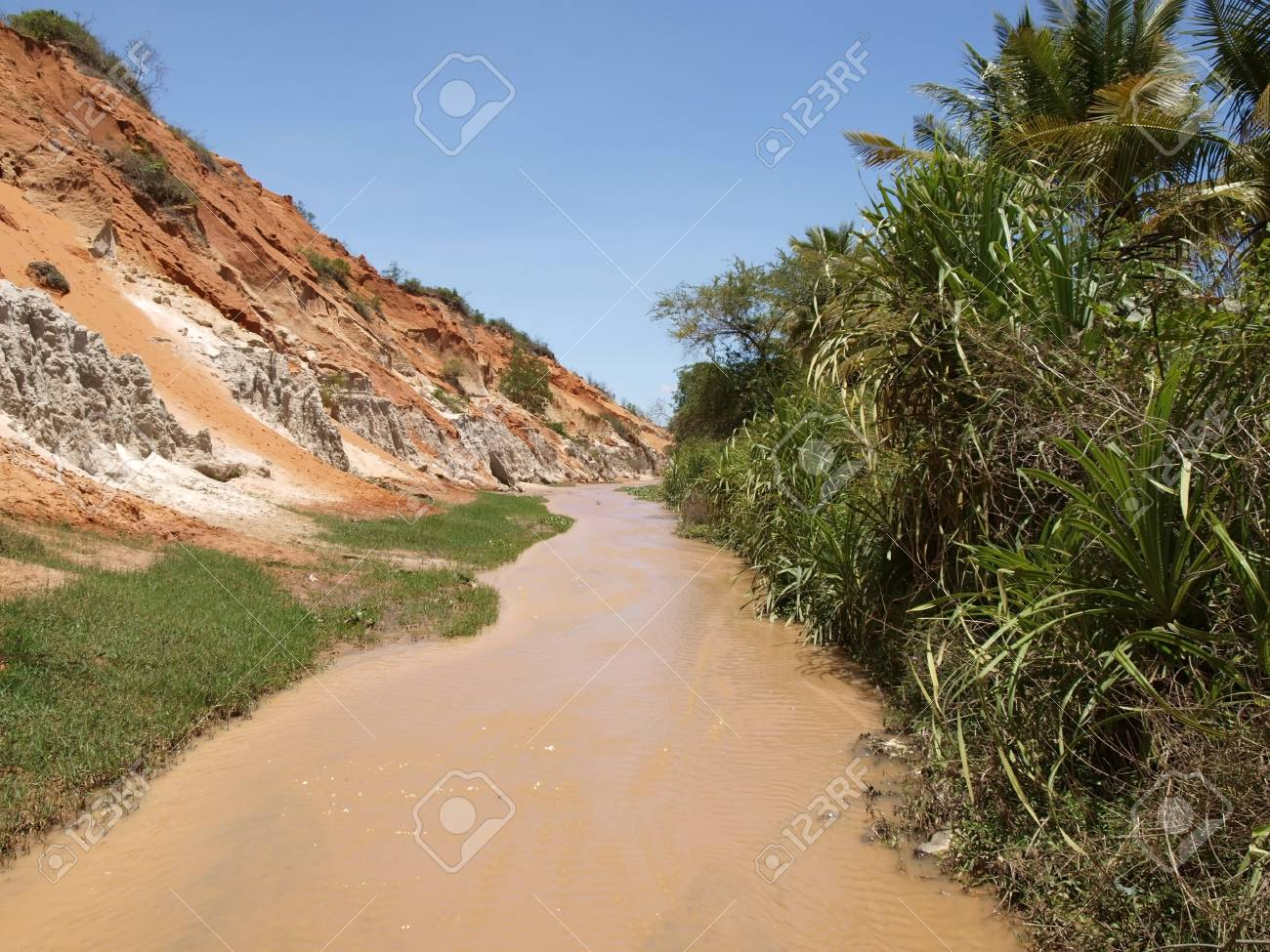 Ham Tien canyon  Fairy stream Stock Photo - 13787419