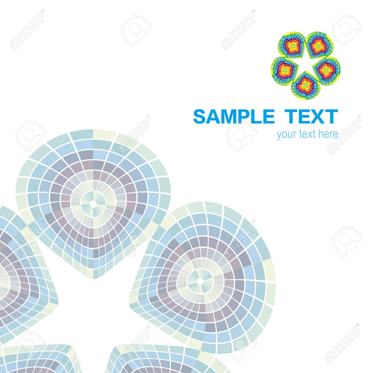 Abstract color symmetry cover background Stock Vector - 10161065