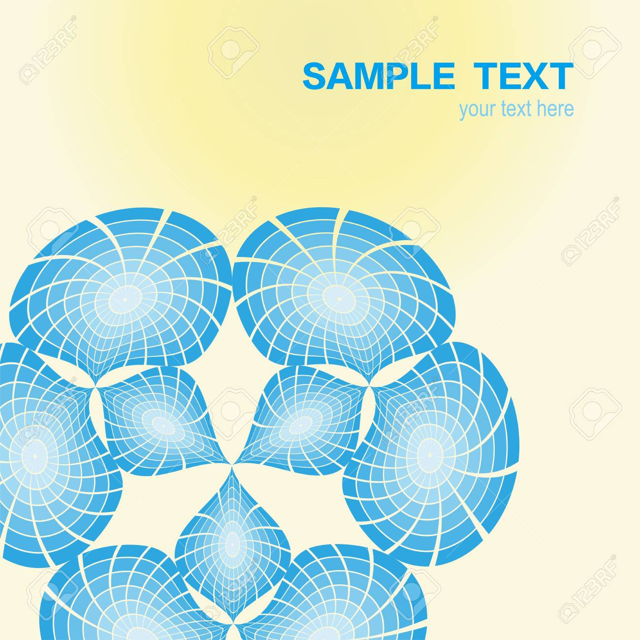 Abstract color symmetry cover background Stock Vector - 10161064