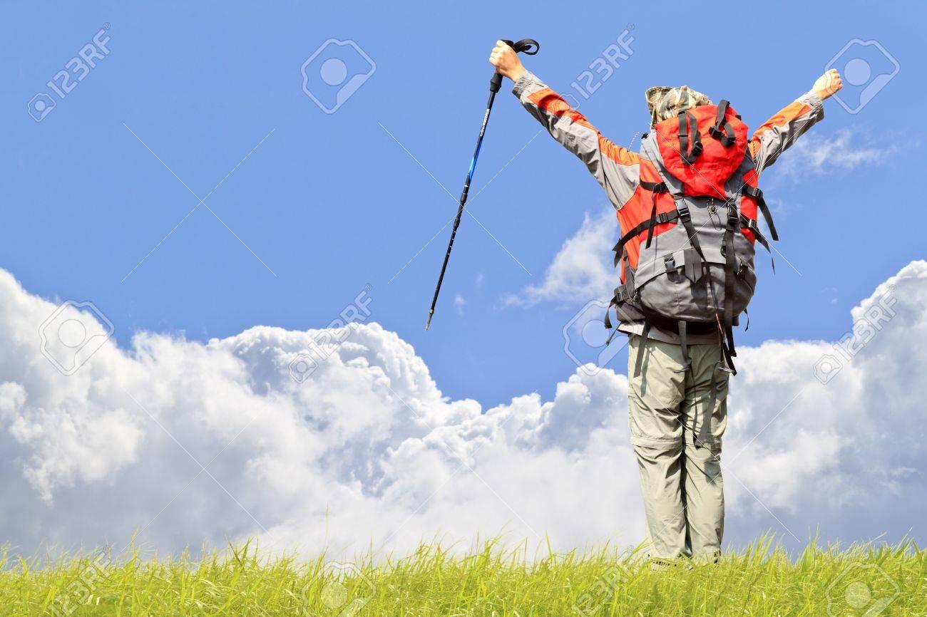 rock Climbing on  beautiful cloud sky Stock Photo - 10928855