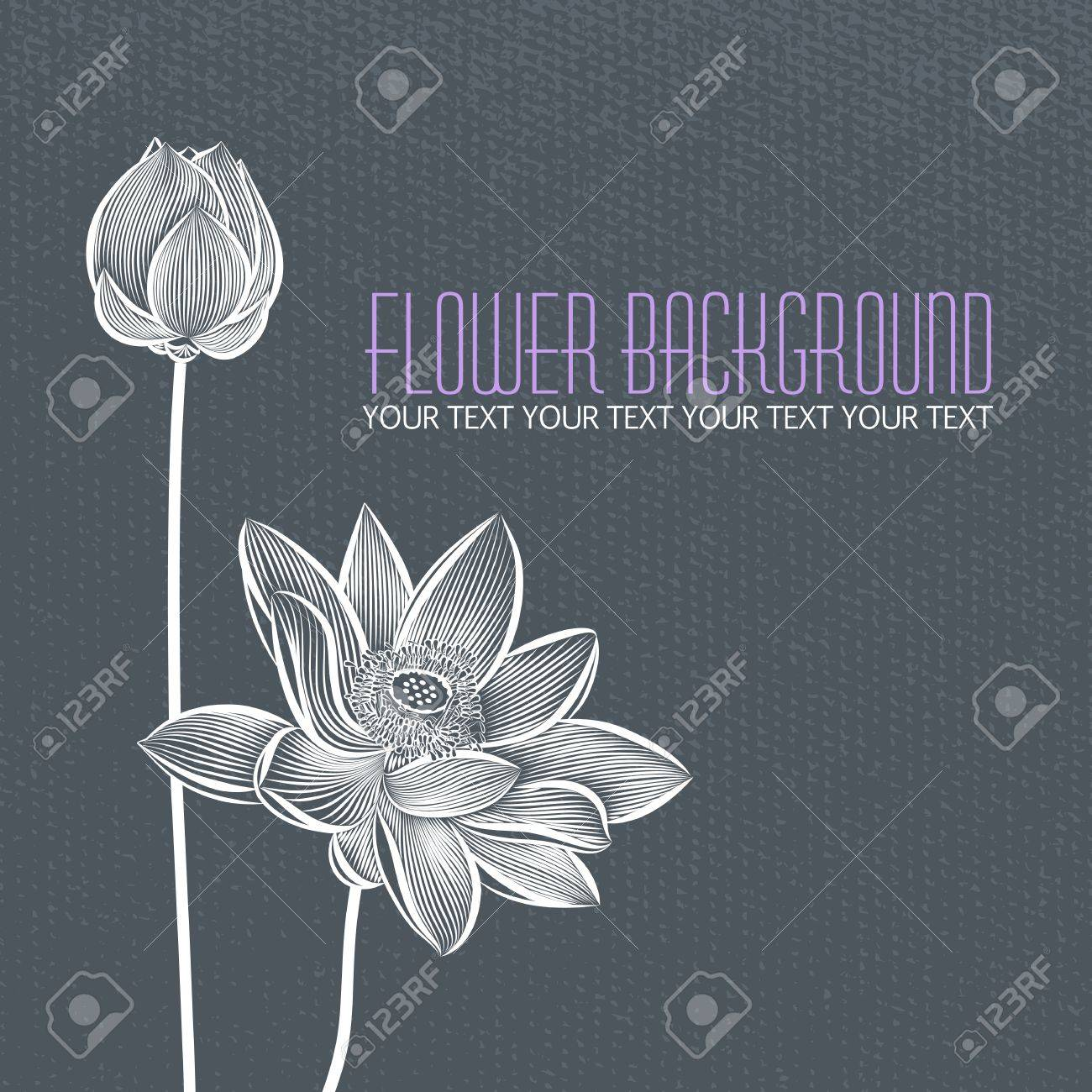Modern abstract flower blue-gray background, with space for title text Stock Vector - 18537628