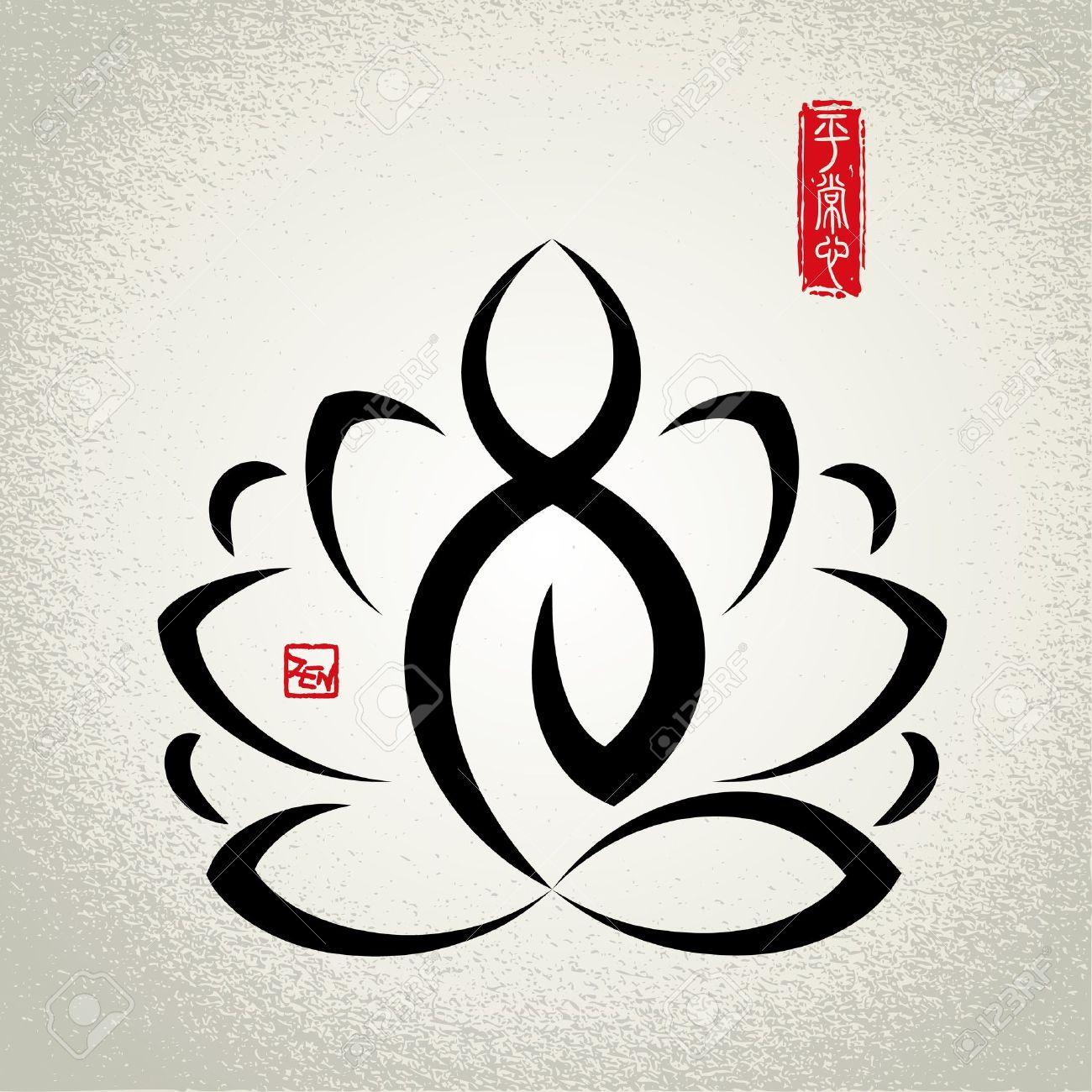 Lotus Et La Meditation Zen Clip Art Libres De Droits Vecteurs