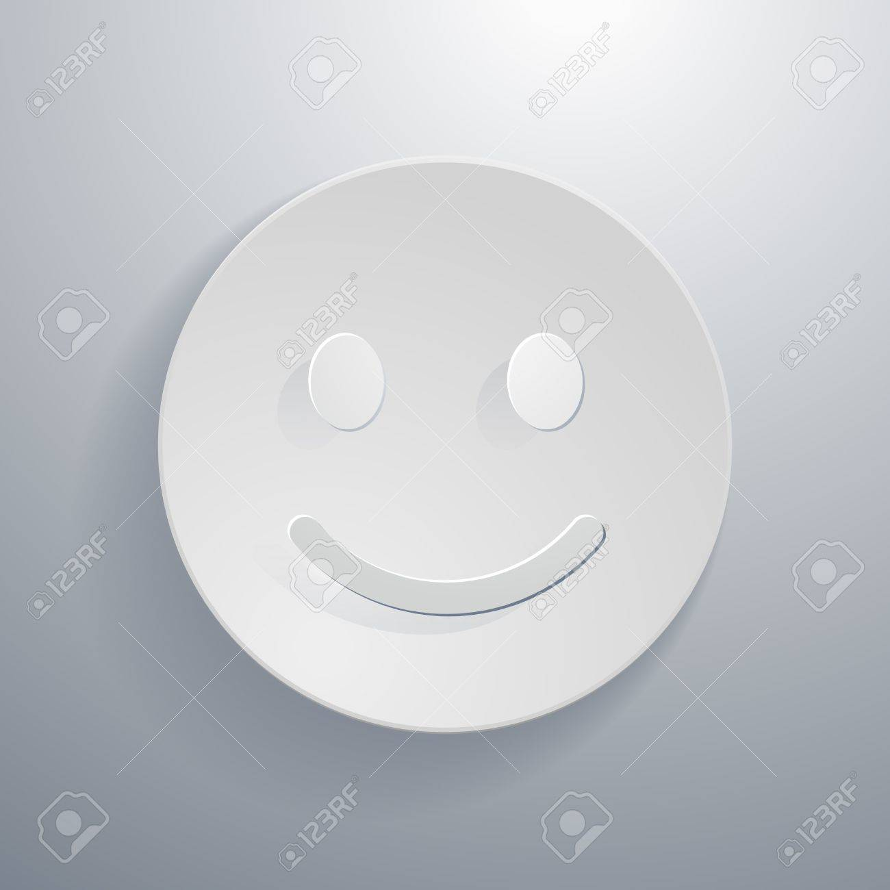 Simple paper cut style circular icon smiley face symbol royalty simple paper cut style circular icon smiley face symbol stock vector 21080572 buycottarizona