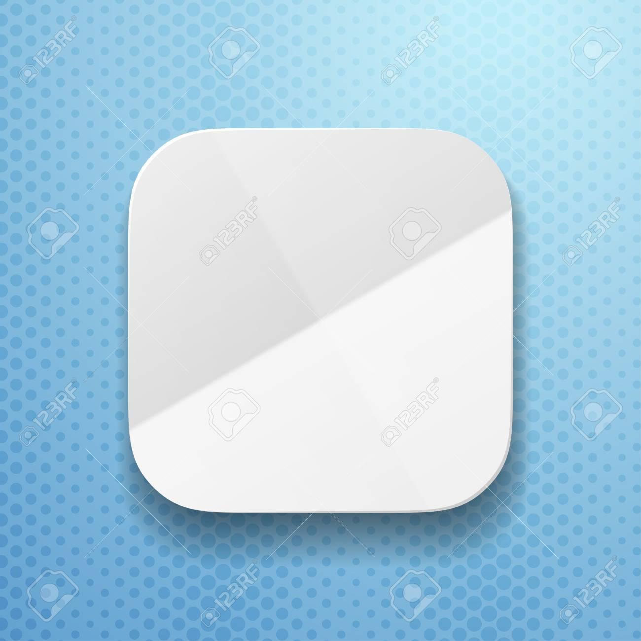 フラットファイブ紙の質感と空のアプリ アイコン ・ テンプレートの ...