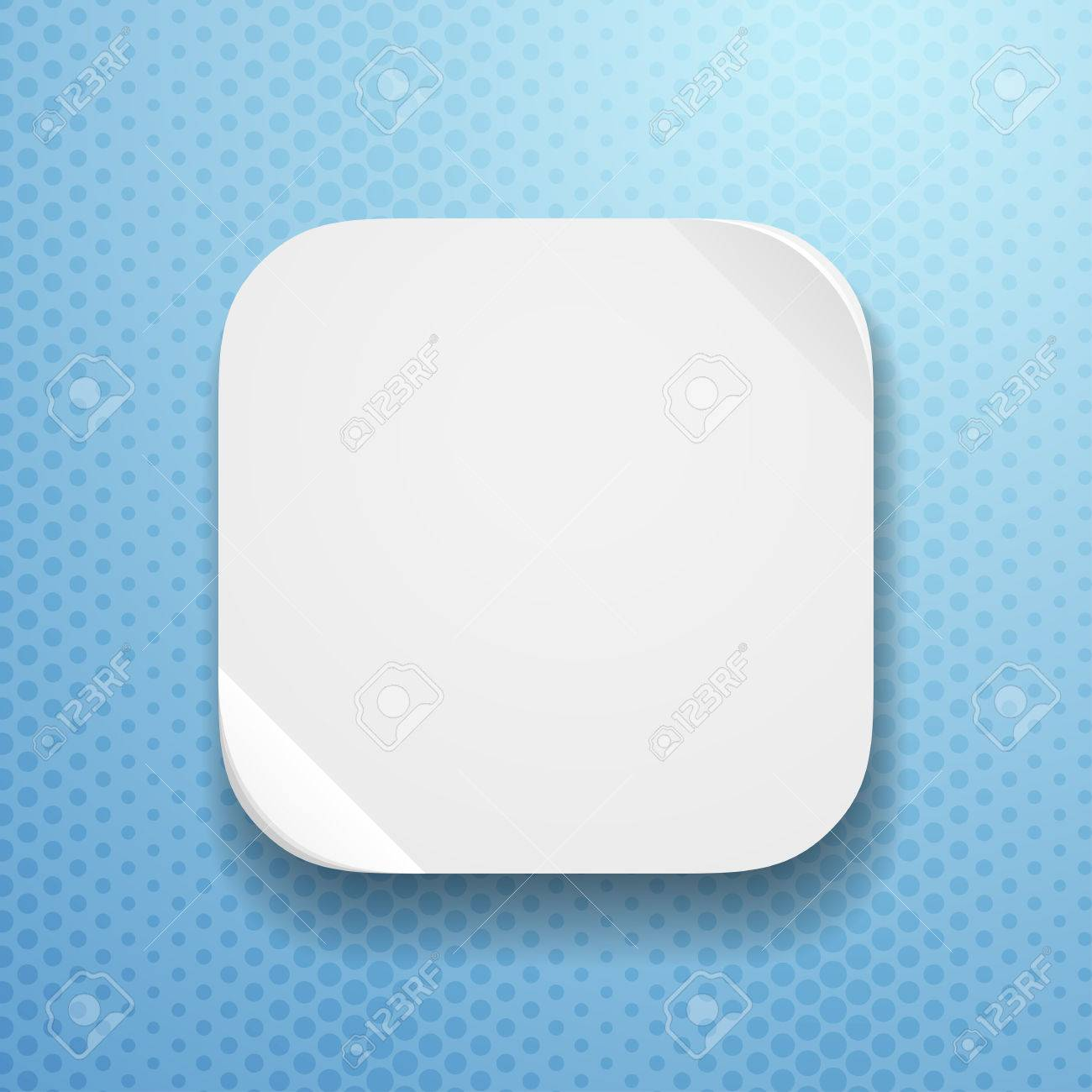 Blank App Icon Template With Flatted Paper Texture Royalty Free ...