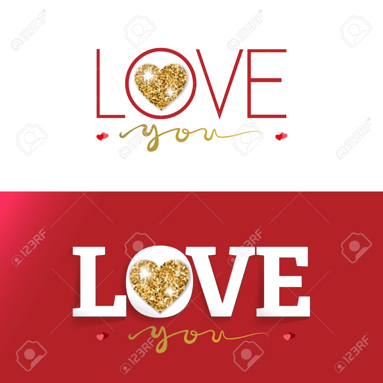 LOVE Happy Valentines Day Card, Design Greeting Cards And Banners ...