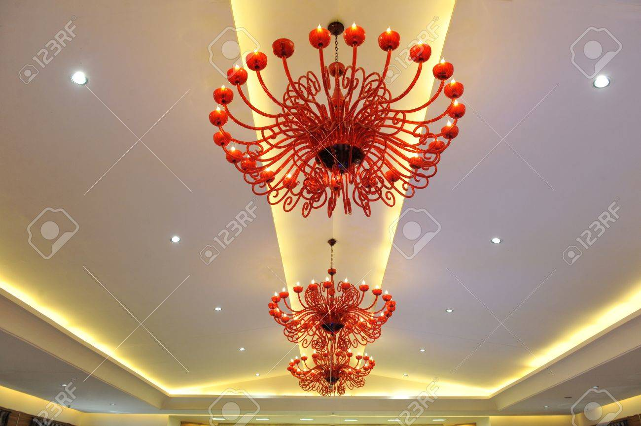 A chandelier in a hotel  Can be used in a web site design Stock Photo - 12553219