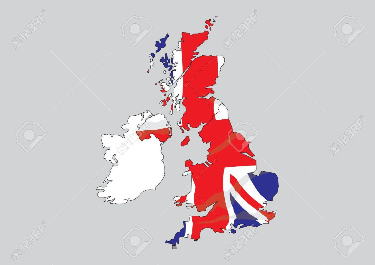 map of great britain and ireland stock photo picture and royalty