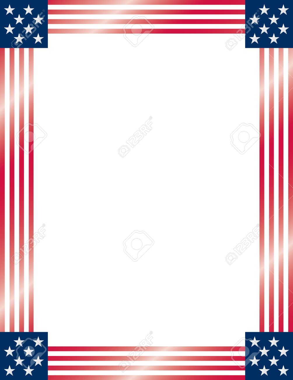 American Flag Frame. Vector. Royalty Free Cliparts, Vectors, And ...
