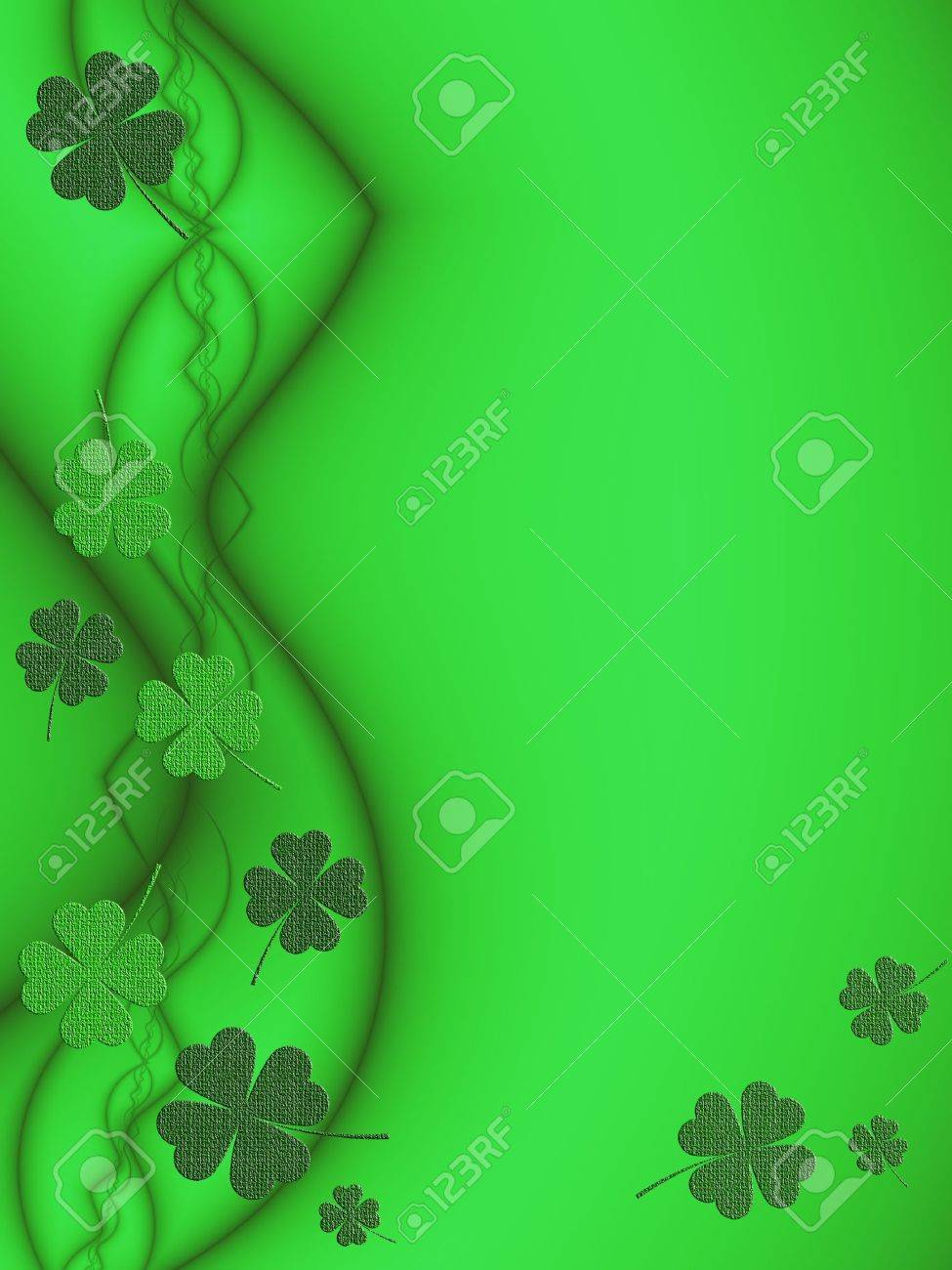 st patrick u0027s day background with shamrock theme stock photo
